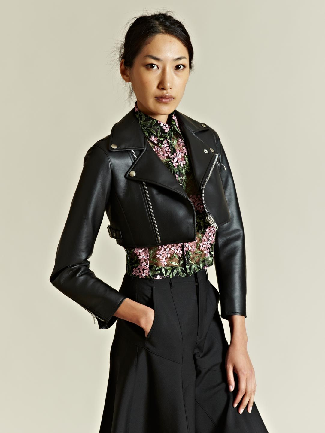 JUNYA Watanabe by Comme Des Garcons SS2012 Cropped Biker Jacket Black