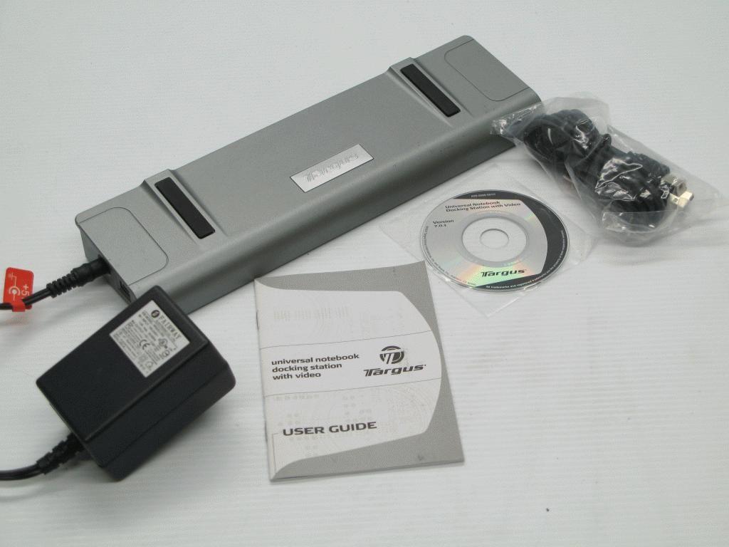 Targus ACP50US Universal Laptop Notebook Docking Station w/ Video