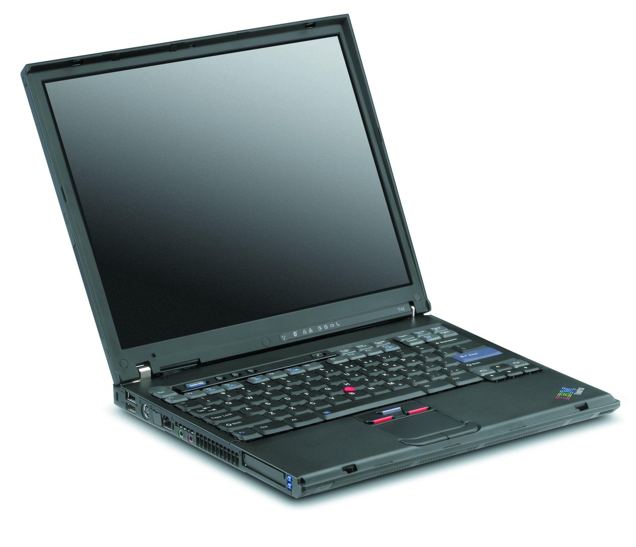 IBM Lenovo ThinkPad T42 PM Centrino Laptop Notebook DVD