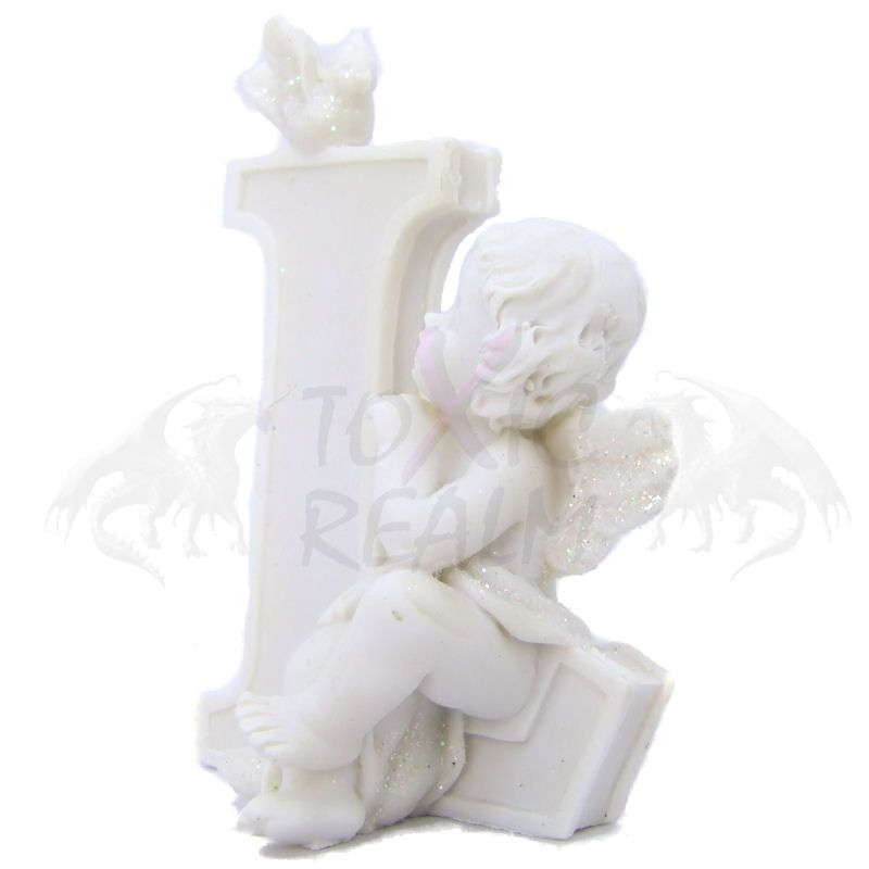 Cherub Angel Small White Wall Decor Cake Topper TR5553 Shelf Sitter