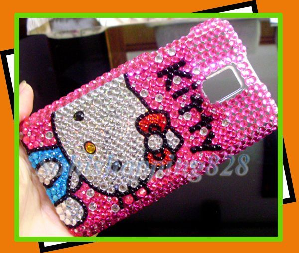 LG T Mobile G2X P990 H Pink Hello Kitty Bling Hard Case