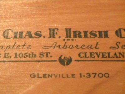 1930s Lowell J Thomas Wood Veneer Business Card Cleveland Oh Charles