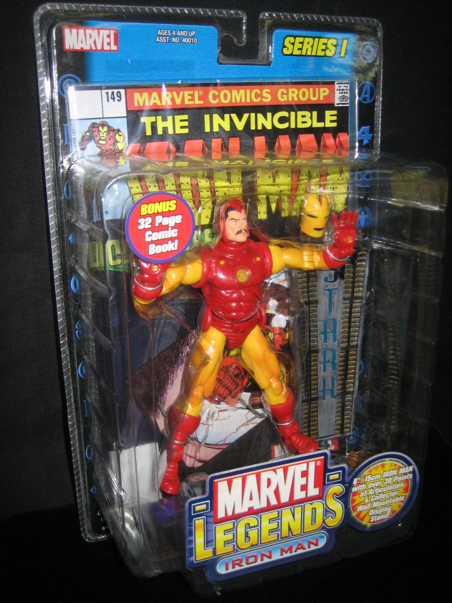 Marvel Legends Series 1 Iron Man Action Figure Toy Biz 2002