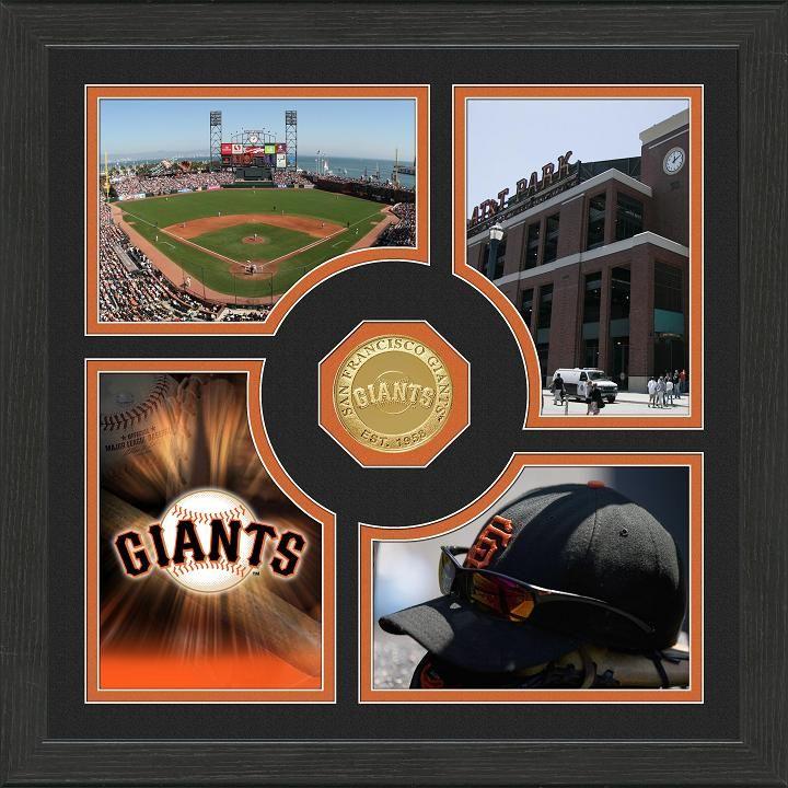 San Francisco Giants 13x13 Fan Memories Coin Photo Mint