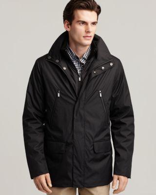 Michael Kors New Black Lined Car Coat with Stormguard Coat Jacket XXL