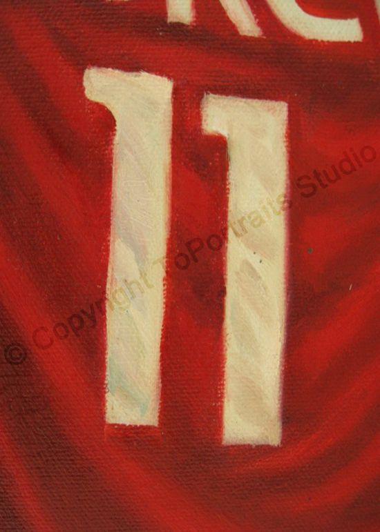 Yao Ming Houston Rockets   Original Basketball NBA Oil Painting on