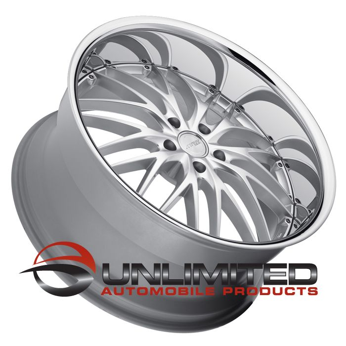MRR GT1 Silver Polish Lip Wheels Rims Fit BMW Alpina B7 M3 2008