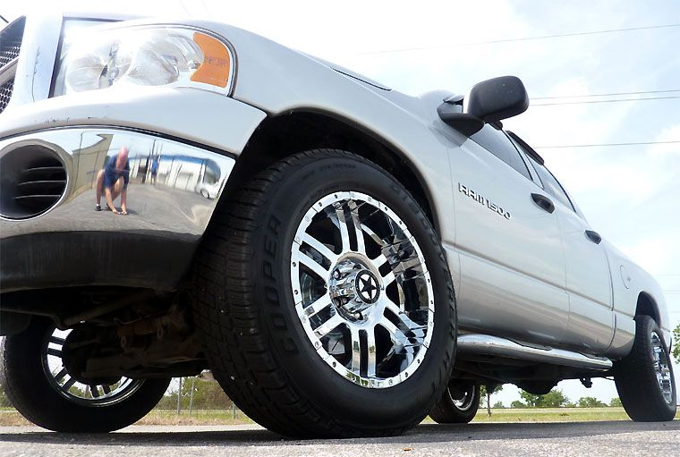 20 inch Chrome Wheels and Tires Dodge Truck RAM 1500 20x9 Rims Cooper