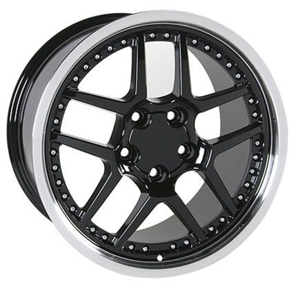 17 18 9 5 10 5 Black Z06 Wheels Rims Fit Camaro Corvette