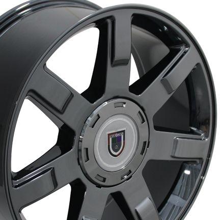 22 Fits Cadillac Escalade Style Wheel Rim Black Chrome 22x9