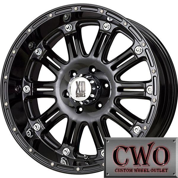 17 Black XD Series Hoss Wheels Rims 8x165 1 8 Lug Chevy GMC Dodge 2500