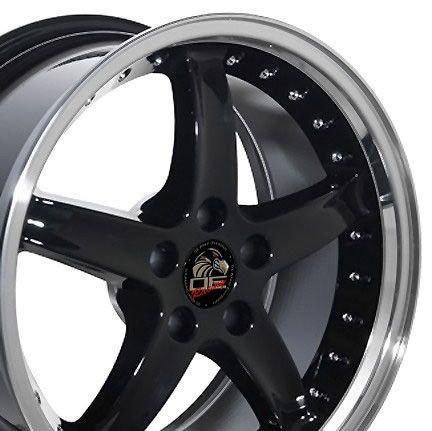 18 9 10 Black Cobra Style Wheels Rims Fit Mustang® 94 04