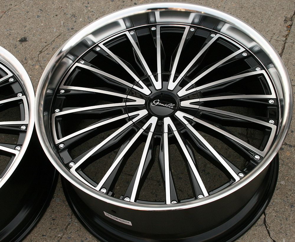 Gianelle Trentino L2 22 Black Rims Wheels BMW x5 E53 E70 22 x 9 0 10