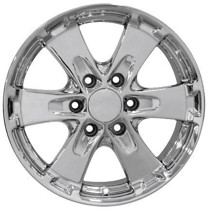 18 Chrome Canyon Wheels 5325 Set of 4 Rims Fit Chevy GMC Colorado Z71