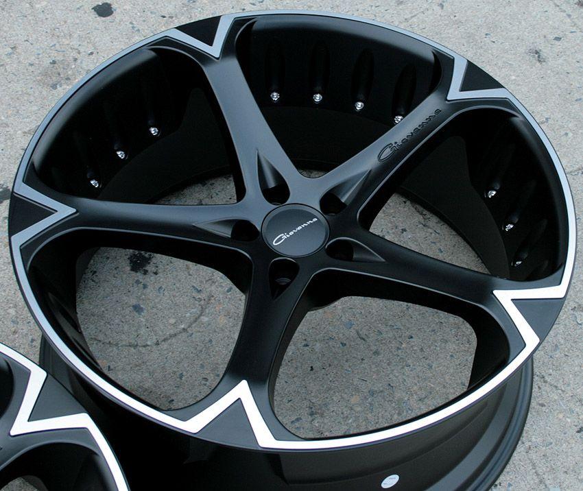 Giovanna Dalar 5V 20 Black Rims Wheels Mustang Stag