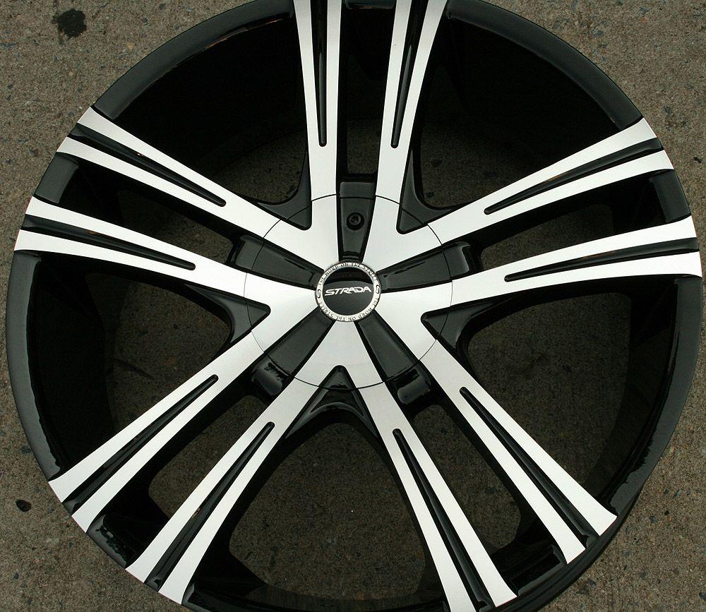 Strada Primo 292 22 Black Rims Wheels Chrysler Aspen Dakota 22 x 8 5