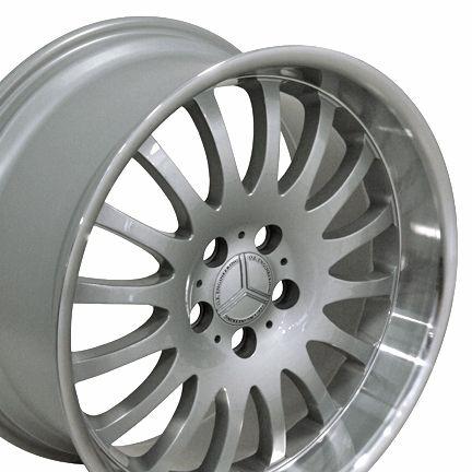 18 Silver Wheels Set of 4 Rims Fits Mercedes Benz