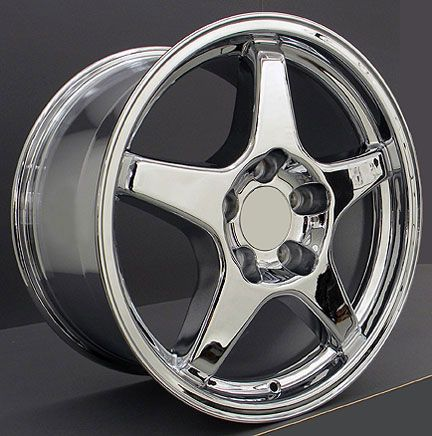 17 9 5 11 Chrome ZR1 Style Wheels Rims Fit Camaro Corvette