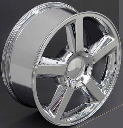 20 Chrome Tahoe Suburban Wheels Tires Fits Chevrolet GMC Cadillac