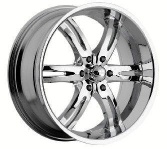 Akuza Dominion chrome wheels rims 6x5.5 6x139.7 Sierra Yukon Escalade
