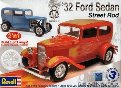Revell 1 25 Scale 1932 Ford Sedan Street Rod Skill 3 Plastic Model Kit