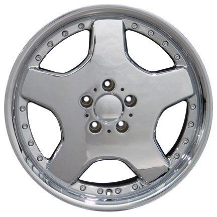 18 Chrome AMG Wheels Set of 4 Rims Fit Mercedes C E s Class SLK CLK