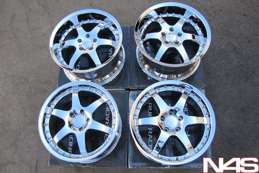 Infiniti G35 Mustang SC430 Ruff Racing 279 Chrome Wheels Rims