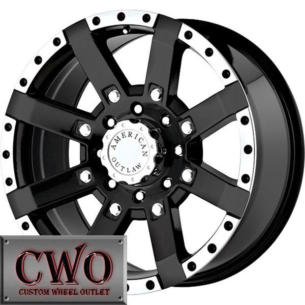 17 Black AO TNT Wheels Rim 5x127 5 Lug Chevy GMC C1500 Jeep Wrangler