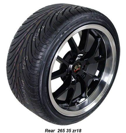10 Black FR500 Wheels Nexen Tires Rims Fit Mustang® 94 04
