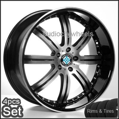 22 inch BMW Wheels and Tires Rims 6 7 Series M6 x5 X6