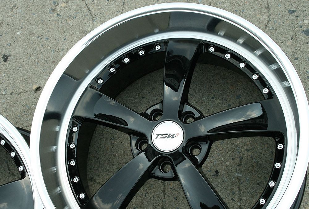 TSW Strip 20 Black Rims Wheels Mustang Staggered 20 x 8 5 10 5H 40
