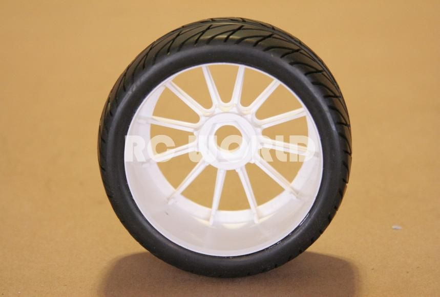 RC 1 8 Car Buggy Truck Tires Wheels Rims Package Street Tread