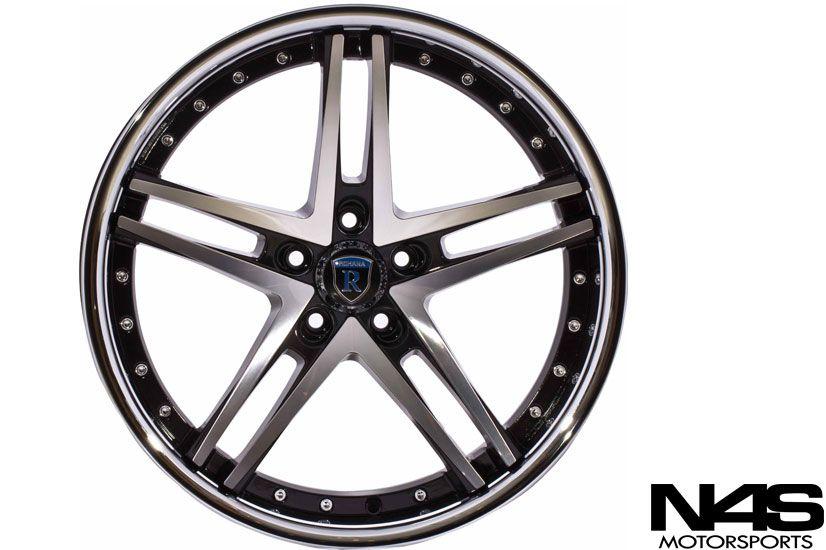 328 335 3 Series Rohana RC5 Black Concave Staggered Wheels Rims