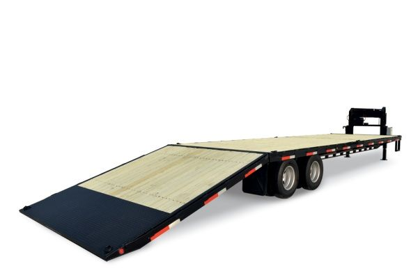 New 30 Sure Trac 22 000 Hydraulic Powered Dove Tail Gooseneck Trailer