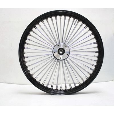 Ultima King Spoke Black Chrome Front Dual Disc Wheel 21x2 15 for 86 99