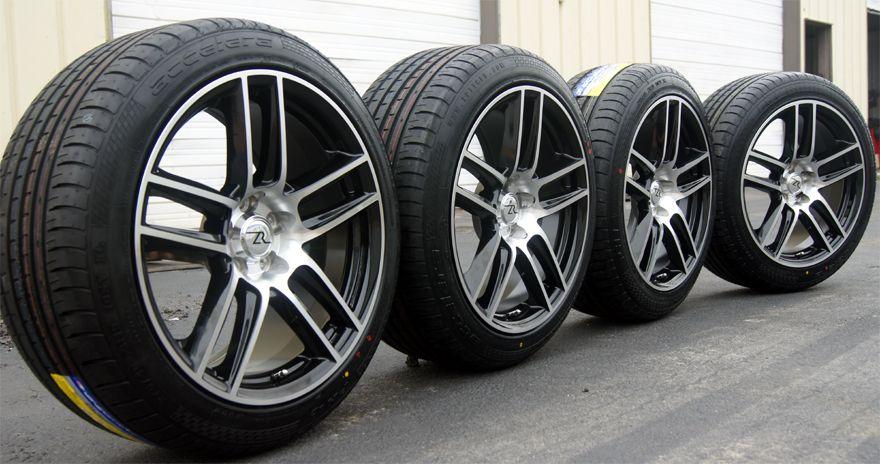 Laguna Replica fits Mustang ® 19 inch Wheels Rims & Tires 19 Black