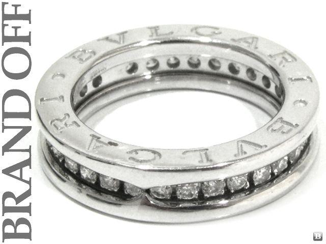 ZERO1 1 BAND 18K WHITE GOLD DIAMOND RING EUR#46 USA#3.75