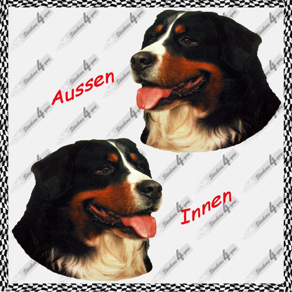 Grosser Aufkleber Berner Sennenhund Hunde Sticker Fur Auto Scheibe