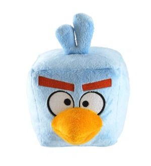 Angry Birds Space 8 Plush With Sound Ice Bomb Blue Bird *New*