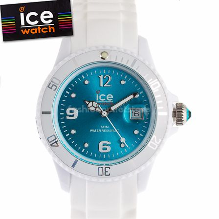 ICE WATCH SI.WT.S.S. Sili Armbanduhr Uhr Small White turquoise Weiß