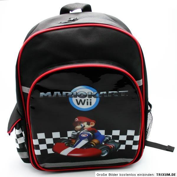 Mario Kart Wii Nintendo Rucksack Freizeit & Schule S2