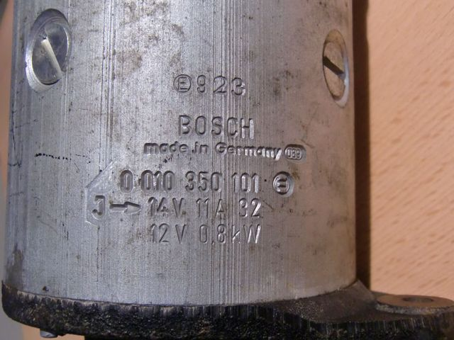 Starter Generator Lichtmaschine BOSCH 0 010 350 101 Oldtimer Schlepper