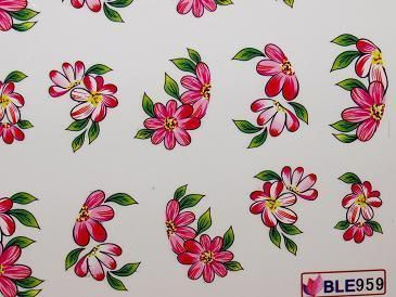 Nail Art Sticker Tattoo One Stroke BLE 959 pink