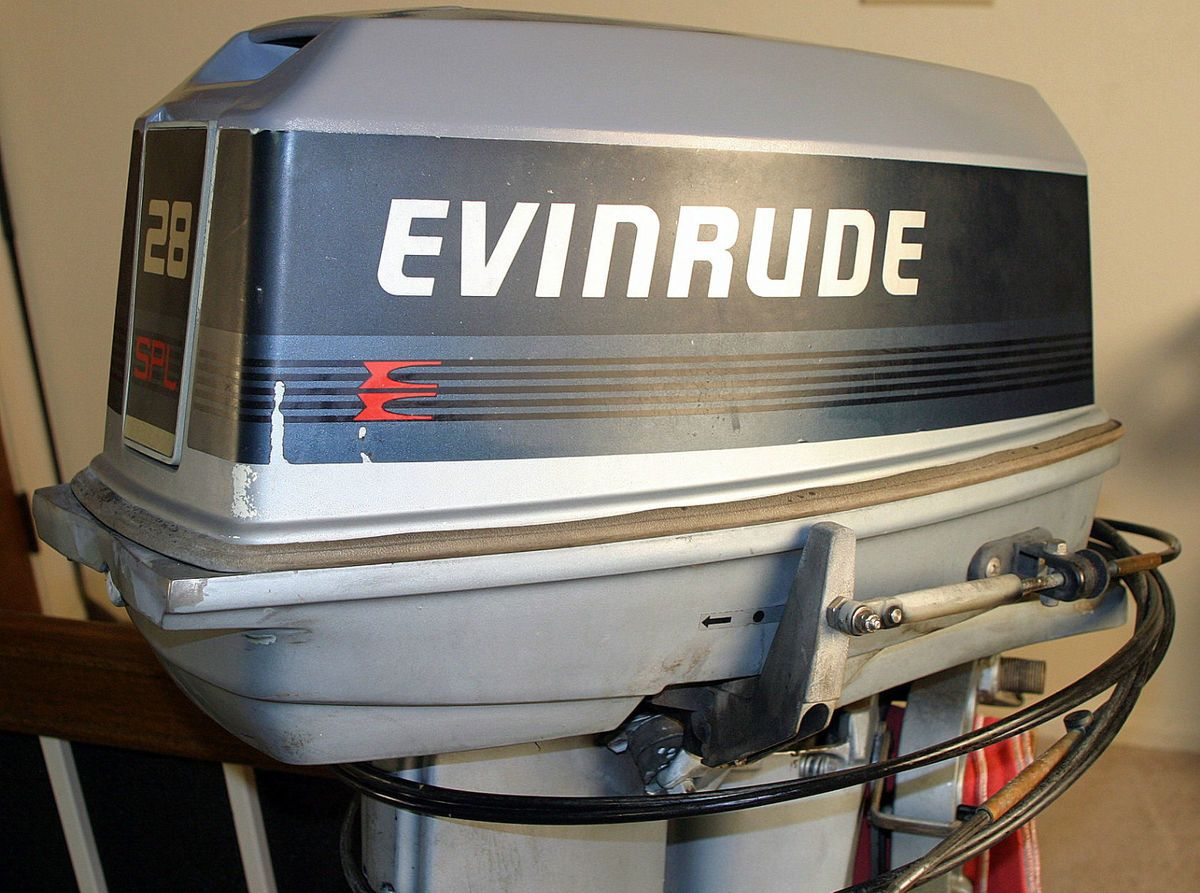 Evinrude Johnson 28 Spl Outboard Engine Motor Electric